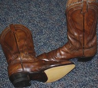 cowboy boot after resole