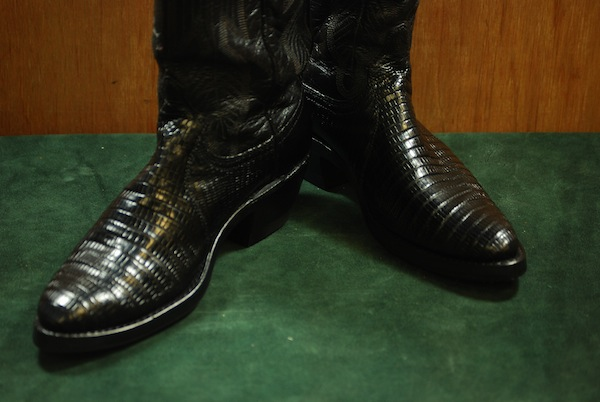 vintage western boot restoration photo after