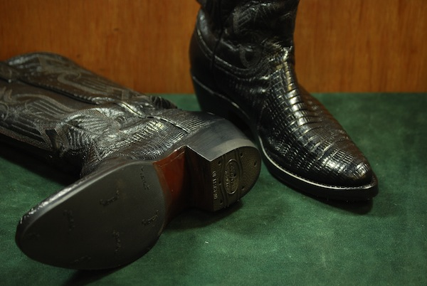 vintage western boot restoration picture after