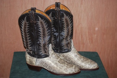 vintage cowboy boot restoration pic after