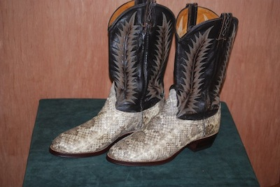 vintage cowboy boot restoration photo after